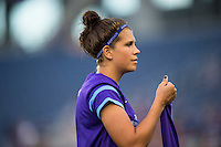 Orlando, FL - Saturday July 16, 2016: Sarah Hagen prior to a regular season National Women's Soccer League (NWSL) match between the Orlando Pride and the Chicago Red Stars at Camping World Stadium.
