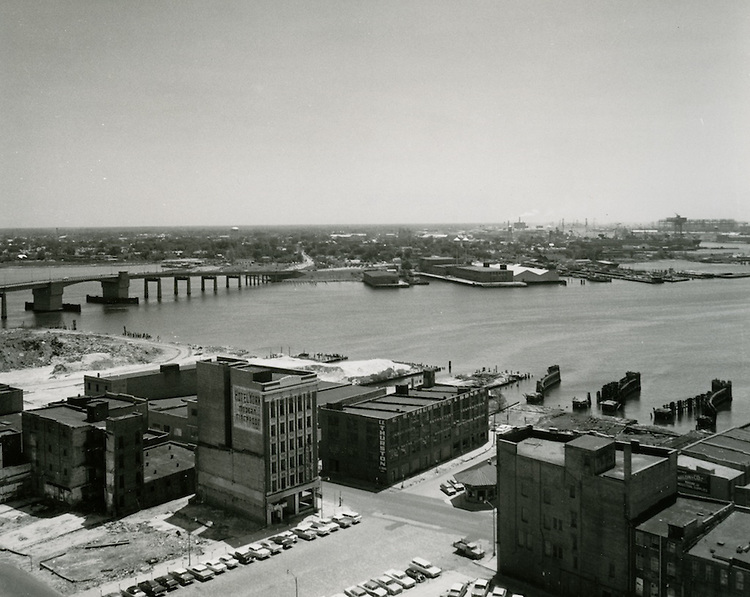 1964 May 05..Historical..Downtown South (R-9)..looking Southeast toward Waterfront.Hotel York..HAYCOX - R. V. Fishbeck.NEG# 64-485-11.NRHA# 3279..