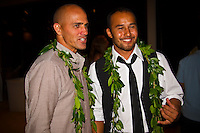 Haleiwa Hawaii, (Monday December 6, 2010) .Monday,  40th annual SURFER Poll Awards were held tonight at Turtle Bay Resort on Oahu's North Shore..Sal Masekela (USA)  returned to serve as the Master of Ceremonies for the event with charismatic Hawaiian surf star Fred Patacchia as co-host .This year's SURFER Poll Awards were held in honor of recently lost legend, three-time World Champion Andy Irons. While acknowledging all of the surfers lost this year, the event  put a heavy focus on Andy and the legacy he leaves behind in and out of the water. Another focal point of this year's show was  Kelly Slater's 10th world title win. Touted as the world's most dominant athlete, Kelly's accomplishments have catapulted the sport of surfing and garnered the world's attention. Kelly was award the male Surfer of the Year award with Stephanie Gilmore (AUS) taking out the Female Surfer of the Year..Photo: joliphotos.com