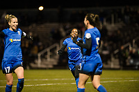 Seattle, WA - Thursday, March, 08, 2018: Seattle Reign FC during a preseason match against the University of Washington at Husky Soccer Stadium.