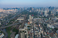 Bangkok Downtown aerial view near the Baiyoke Tower