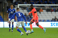 Huddersfield Town's Isaac Mbenza during the game<br /> <br /> Photographer Ian Cook/CameraSport<br /> <br /> The EFL Sky Bet Championship - Cardiff City v Huddersfield Town - Wednesday August 21st 2019 - Cardiff City Stadium - Cardiff<br /> <br /> World Copyright © 2019 CameraSport. All rights reserved. 43 Linden Ave. Countesthorpe. Leicester. England. LE8 5PG - Tel: +44 (0) 116 277 4147 - admin@camerasport.com - www.camerasport.com