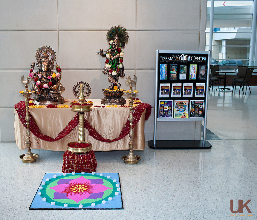 At the foyer of Eisemann Center during Suchitra's Arangetram.