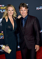 Luke Hemsworth &amp; Samantha Hemsworth at the premiere for &quot;Thor: Ragnarok&quot; at the El Capitan Theatre, Los Angeles, USA 10 October  2017<br /> Picture: Paul Smith/Featureflash/SilverHub 0208 004 5359 sales@silverhubmedia.com