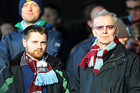 Burnley fans watch on during the game <br /> <br /> Photographer Ashley Crowden/CameraSport<br /> <br /> The Premier League - Crystal Palace v Burnley - Saturday 13th January 2018 - Selhurst Park - London<br /> <br /> World Copyright &copy; 2018 CameraSport. All rights reserved. 43 Linden Ave. Countesthorpe. Leicester. England. LE8 5PG - Tel: +44 (0) 116 277 4147 - admin@camerasport.com - www.camerasport.com