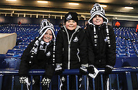 Swansea City fans before the Barclays Premier League match between West Bromwich Albion and Swansea City at The Hawthorns on the 2nd of February 2016
