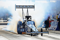Sept. 21, 2012; Ennis, TX, USA: NHRA top fuel dragster driver Shawn Langdon during qualifying for the Fall Nationals at the Texas Motorplex. Mandatory Credit: Mark J. Rebilas-