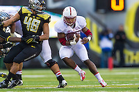 EUGENE, OR - NOVEMBER 1, 2014:  Barry Sanders during Stanford's game against Oregon. The Ducks defeated the Cardinal 45-16.