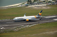 Condor Boeing B767-300, D-ABUS, back-tracking Runway 36, Male' Airport, Republic of Maldives