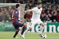 FC Barcelona's Sergio Busquets (l) and Paris Saint-Germain's Thiago Motta during Champions League 2014/2015 match.December 10,2014. (ALTERPHOTOS/Acero) /NortePhoto