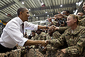 United States President Barack Obama greets U.S. troops following his remarks at Bagram Air Field, Afghanistan, May 1, 2012. .Mandatory Credit: Pete Souza - White House via CNP
