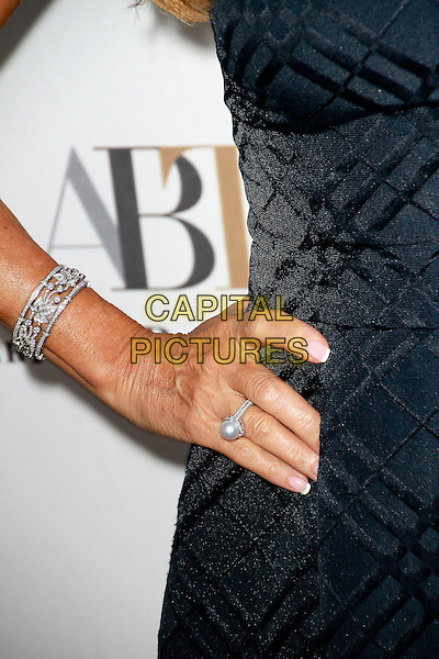Jane Seymour's hand <br /> American Ballet Theatre's Annual &quot;Stars Under TheStars: An Evening In Los Angeles&quot; held at a private residence, Beverly Hills, California, USA, 12th September 2013.<br /> detail hand ring bracelet pearl <br /> CAP/ADM/TB<br /> &copy;Theresa Bouche/AdMedia/Capital Pictures