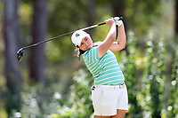 CHAPEL HILL, NC - OCTOBER 11: Valery Plata of Michigan State University tees off at UNC Finley Golf Course on October 11, 2019 in Chapel Hill, North Carolina.