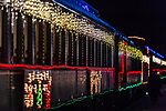 THOMASTON, CT. 08 December 2018-120818 - The Northern Lights Limited train ride with Santa and his elves all decorated for the holidays gets ready to leave the station at the Railroad Museum of New England in Thomaston on Saturday. Bill Shettle Republican-American