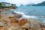 Hong Kong  The seashore at the village of Lei Yue Mun, Kowloon, offers a great view of Hong Kong harbour.