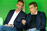 GRONINGEN - Voetbal , FC Groningen - FC Twente , KNVB Beker seizoen 2018-2019, 27-09-2018,  FC Twente trainer Marino Pusic met technisch directeur Ted van Leeuwen