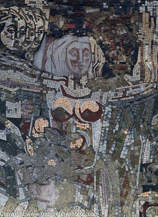 Mosaic image Buzludzha monument former communist party headquarters, Bulgaria, eastern Europe