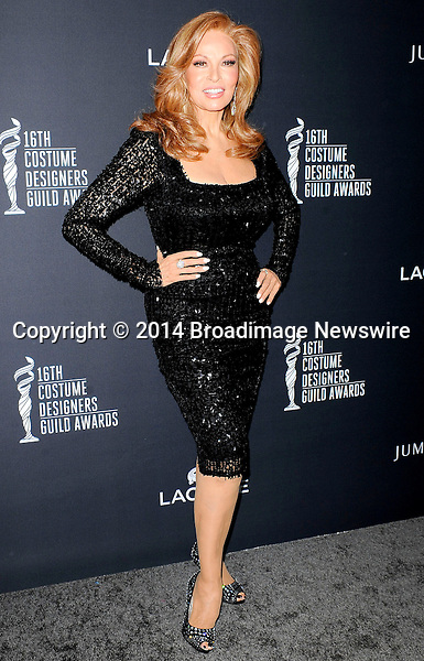 Pictured: Raquel Welch<br /> Mandatory Credit &copy; Adhemar Sburlati/Broadimage<br /> The 16th Costume Designers Guild Awards<br /> <br /> 2/22/14, Los Angeles, California, United States of America<br /> <br /> Broadimage Newswire<br /> Los Angeles 1+  (310) 301-1027<br /> New York      1+  (646) 827-9134<br /> sales@broadimage.com<br /> http://www.broadimage.com