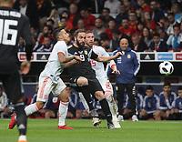 Spanish player Thiago Alcantara (L); Argentina's player Higuain; Spanish's player Ramos<br /> <br /> Spain vs Argentina selections team pre Russian Soccer World Cup football match at Wanda Metropolitano stadium in Madrid on March 27, 2018.