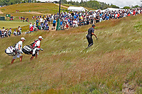 Tiger Woods (USA) walks the 9th hole during the second round of the 118th U.S. Open Championship at Shinnecock Hills Golf Club in Southampton, NY, USA. 15th June 2018.<br /> Picture: Golffile | Brian Spurlock<br /> <br /> <br /> All photo usage must carry mandatory copyright credit (&copy; Golffile | Brian Spurlock)