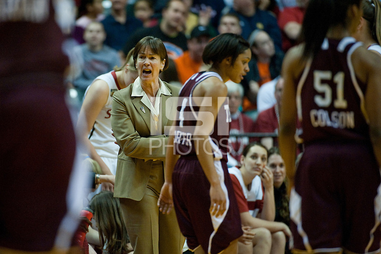 INDIANAPOLIS, IN - APRIL 3, 2011: Head Coach Tara VanDerveer commands her team against Texas A&M at Conseco Fieldhouse during the NCAA Final Four  in Indianapolis, IN on April 1, 2011.
