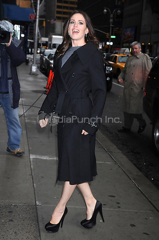 Jennifer Garner at the Ed Sullivan Theater for an appearance on Late Show with David Letteman in New York City. April 5, 2011 Credit: Dennis Van Tine/MediaPunch