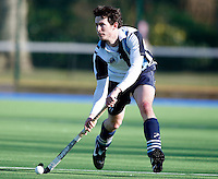 Daniel Walsh in action for Hampstead during the EHL Mens Cup Quarter-Final game between Hampstead and Westminster and Old Loughtonians at the Paddington Recreation Ground, Maida Vale on Sun Mar 7, 2010