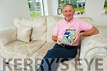 Billy Ryle launching his book at his home in the Spa on Friday morning.