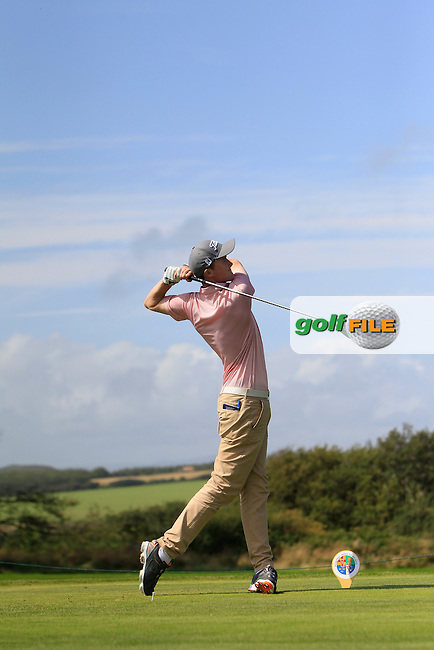 Eugene Smith (Ardee) on the 7th tee during Matchplay Day 2 of the AIG Irish Amateur Close Championship at Tramore Golf Club on Friday 21th August 2015.<br /> Picture:  Thos Caffrey / www.golffile.ie