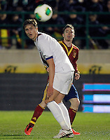 Spain's Iker Muniain (r) and Norway's Rogne during international sub21 match.March 21,2013. (ALTERPHOTOS/Acero) /NortePhoto