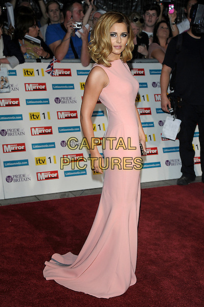 Cheryl Cole (wearing Victoria Beckham).'The Daily Mirror's Pride Of Britain Awards 2011' at Grosvenor House Hotel, London, England..3rd October 2011.full length pink sleeveless dress  side.CAP/PL.©Phil Loftus/Capital Pictures.