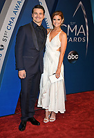 08 November 2017 - Nashville, Tennessee - Jason Ritter, JoAnna Garcia Swisher. 51st Annual CMA Awards, Country Music's Biggest Night, held at Bridgestone Arena.<br /> CAP/ADM/LF<br /> &copy;LF/ADM/Capital Pictures