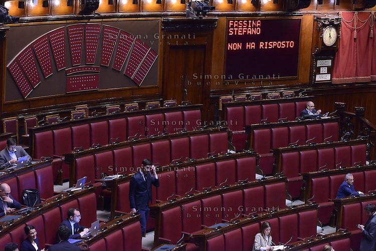 Roma, 30 Aprile 2015<br /> Stefano Fassina non ha risposto.<br /> Votata le seconda fiducia alla Legge elettorale