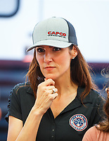 Apr 21, 2017; Baytown, TX, USA; Taya Kyle , wife of US Navy sniper Chris Kyle in attendance during NHRA qualifying for the Springnationals at Royal Purple Raceway. Mandatory Credit: Mark J. Rebilas-USA TODAY Sports