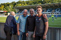 Wycombe supporters ahead of the pre season friendly 'Cherry Red Records Cup' match between Wycombe Wanderers and AFC Wimbledon at Adams Park, High Wycombe, England on 25 July 2017. Photo by Andy Rowland.