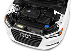 Car stock 2015 Audi A3 2.0T quattro S tronic Premium 2 Door Convertible engine high angle detail view