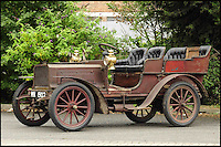 BNPS.co.uk (01202 558833)<br /> Pic: Bonhams/BNPS<br /> <br /> ****Please use full byline****<br /> <br /> The car with no name...<br /> <br /> An ancient car that has been owned by the same family for so long nobody can remember what make it actually is has been put up for auction by an elderly woman whose grandfather bought it in 1908.<br /> <br /> The mystery motor dates back to 1903 but there are no surviving documents to confirm what the make and model of it are and the man who first bought it is long dead.<br /> <br /> In the earliest days of motoring there were many different manufacturers that sprang up to try their hand at the new technology, and it appears that this sturdy machine has long outlasted the company that made it.<br /> <br /> Despite its dubious origin the vehicle is still expected to sell for &pound;160,000.