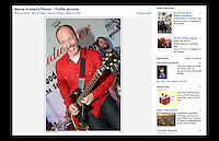 Wayne Kramer Profile Picture on Facebook - Shot at the premiere of the film 'Breaking Rocks' for Billy Bragg's charity 'Jail Guitar Doors' at The Proud Gallery, Camden on 1st October 2009.