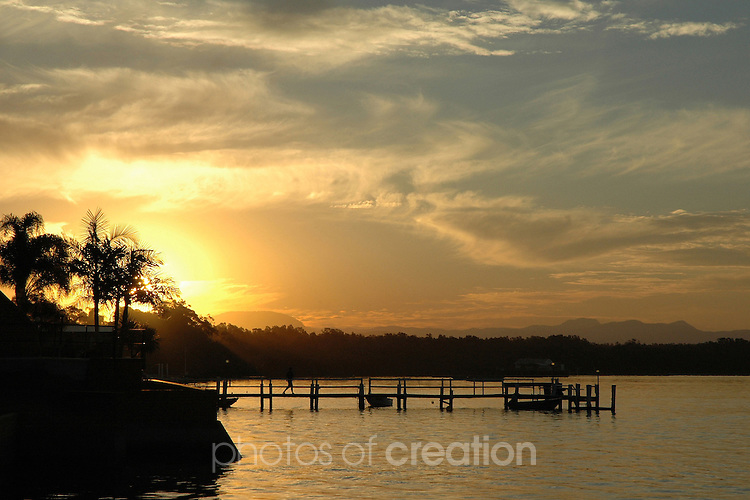 Sunset on the Hastings River Port Macquarie