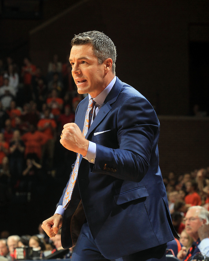 Virginia head coach Tony Bennett during the game Jan. 7, 2015, in Charlottesville, Va. Virginia defeated NC State  61-51.