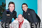 DELIGHTED: Ken Doherty and Ronnie O'Sullivan, world champion snooker players were delighted to meet with Paddy Daly from Killarney at the snooker exhibition at Ballyroe Heights Hotel, Tralee, on Thursday night..