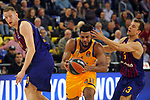 Turkish Airlines Euroleague 2018/2019. <br /> Regular Season-Round 30.<br /> FC Barcelona Lassa vs Khimki Moscow Region: 83-74. <br /> Roland Smits, Andrew Harrison &amp; Kevin Pangos.