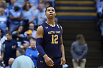 CHAPEL HILL, NC - FEBRUARY 12: Notre Dame's Elijah Burns. The University of North Carolina Tar Heels hosted the University of Notre Dame Fighting Irish on February 12, 2018 at Dean E. Smith Center in Chapel Hill, NC in a Division I men's college basketball game. UNC won the game 83-66.