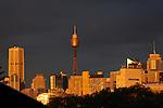 Sunset of city from Balmain, Sydney, Australia, Friday, June 14th, 2013. Photo: (Steve Christo)