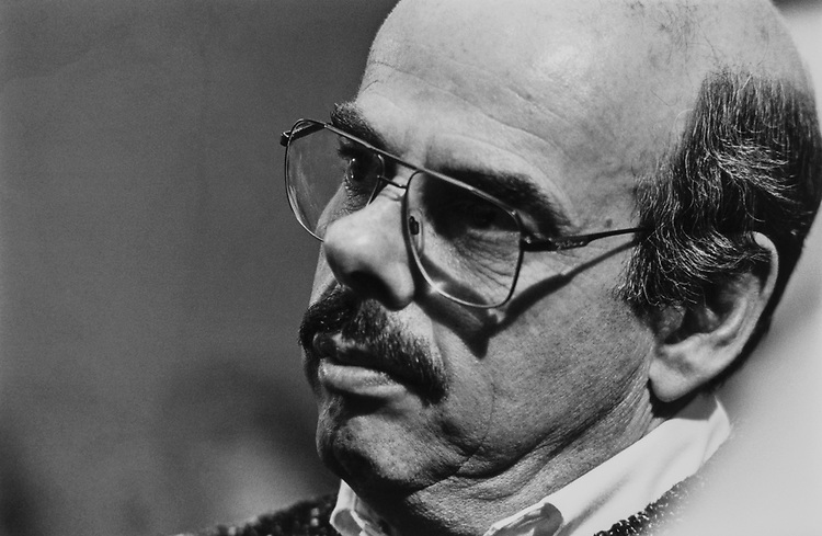 Close-up of Rep. Henry Waxman, D-Calif., on March 18, 1991. (Photo by Maureen Keating/CQ Roll Call)