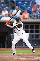 Quad Cities River Bandits second baseman Bobby Wernes (13) at bat during a game against the Bowling Green Hot Rods on July 24, 2016 at Modern Woodmen Park in Davenport, Iowa.  Quad Cities defeated Bowling Green 6-5.  (Mike Janes/Four Seam Images)
