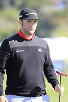 Jon Rahm (ESP) on the 6th green during Sunday's Final Round of the 2018 AT&amp;T Pebble Beach Pro-Am, held on Pebble Beach Golf Course, Monterey,  California, USA. 11th February 2018.<br /> Picture: Eoin Clarke | Golffile<br /> <br /> <br /> All photos usage must carry mandatory copyright credit (&copy; Golffile | Eoin Clarke)
