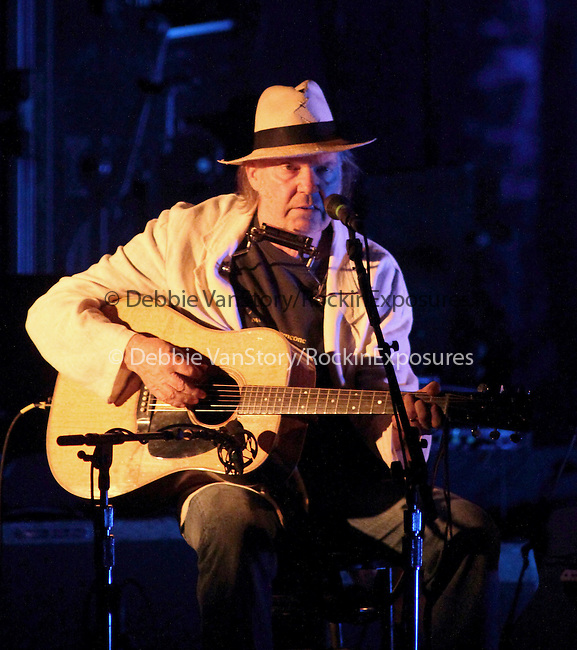 Neil Young performs solo at the Hippodrome Theater in Baltimore, Maryland April 27, 2011..Copyright EML/Rockinexposures.com.