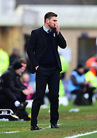 Grimsby Town manager Michael Jolley in his technical area<br /> <br /> Photographer Andrew Vaughan/CameraSport<br /> <br /> The EFL Sky Bet League Two - Lincoln City v Grimsby Town - Saturday 19 January 2019 - Sincil Bank - Lincoln<br /> <br /> World Copyright © 2019 CameraSport. All rights reserved. 43 Linden Ave. Countesthorpe. Leicester. England. LE8 5PG - Tel: +44 (0) 116 277 4147 - admin@camerasport.com - www.camerasport.com