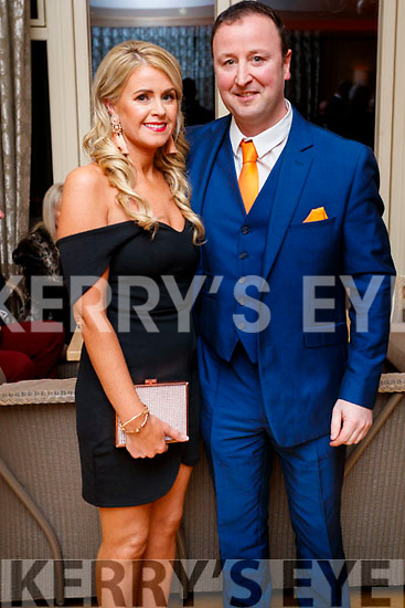Caroline Flahive (Ballyheigue) and Donal Shanahan (Abbeydorney), enjoying the Lee Strand Social, at Ballygarry House Hotel & Spa, Tralee, on Saturday night last.